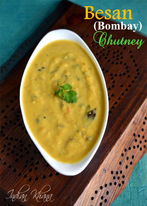 Bombay Chutney or Besan Chutney is easy chutney, side dish made with chickpeas flour and makes perfect side with dosa, poori, paratha etc