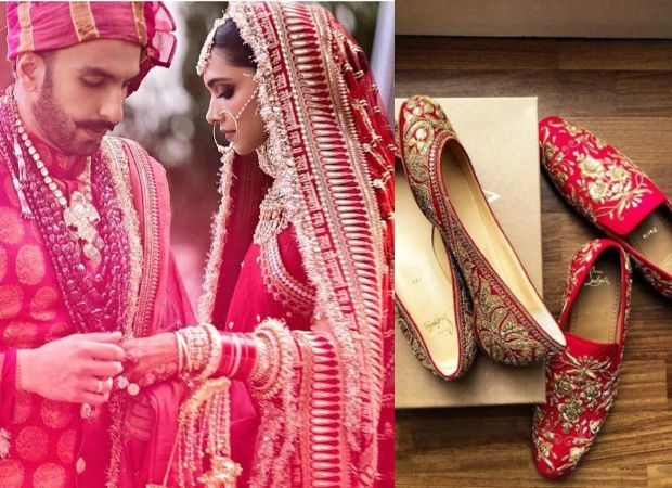 Deepika Padukone Ranveer Singh Wedding It Was A Royal Shoe Affair With Sabyasachi X Christian Louboutin Juttis For The Bride A Sabyasachi Bridal Wear Bride
