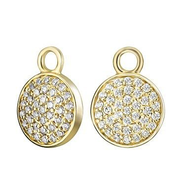 EAR CHARMS KAGI COSMOS 18CT GOLD PLATED PAVE SET CLEAR CUBIC ZIRCONIAS - Jons Family Jewellers