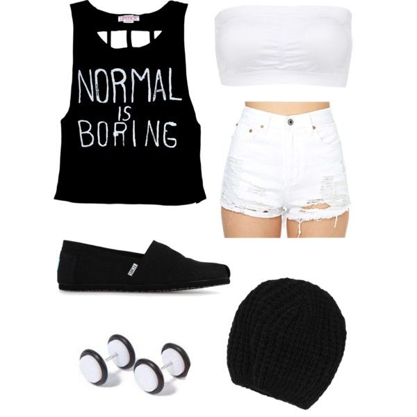 Normal is boring summer indie scene outfit