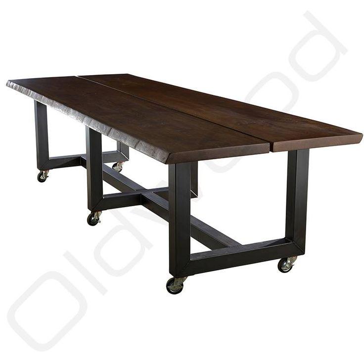 Tussen de robuuste tafels van Oldwood kunt u de industriële tafel Nice vinden. Want bij Oldwood zitten de robuuste tafels wel goed.