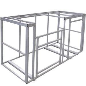 Cal flame 6 ft outdoor kitchen island frame kit more for 6 ft kitchen ideas