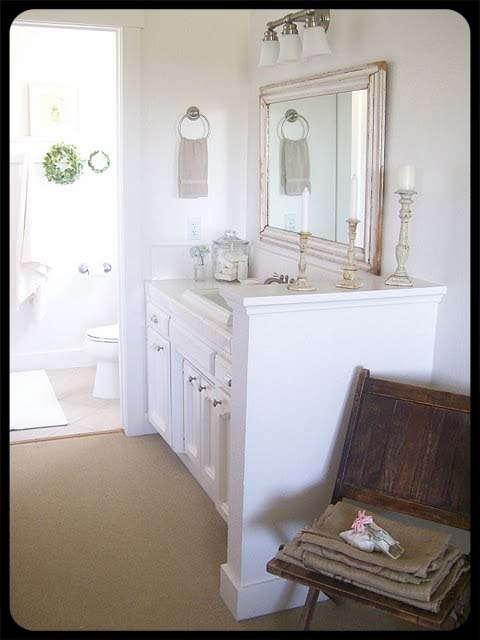 Bathroom Idea Separate Vanity From Toilet Area Very Well Done Country Bathrooms