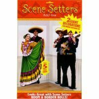 A673008 - Scene Setter Cutouts - Mariachi Dancers. Scene Setter Cutout Dancers & Mariachi (2 x 85cm x 165cm) - Pack of 2. Please note: approx. 14 day delivery time.