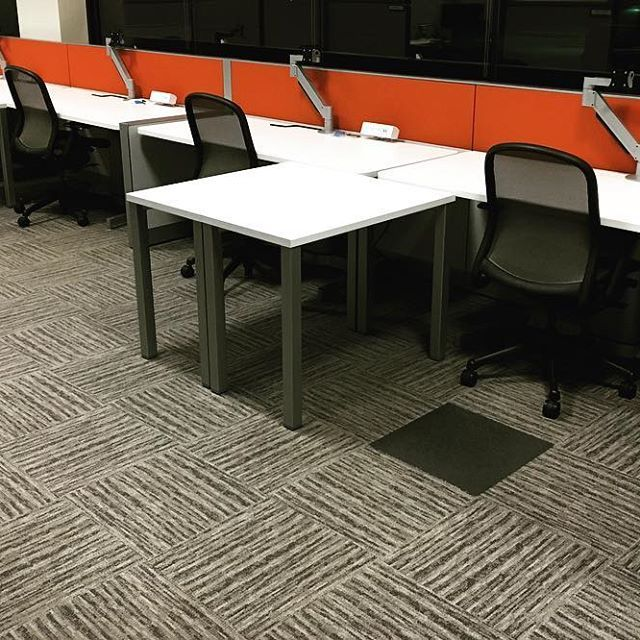 One #easy , #creative way to #incorporate your #brand into your #office #furniture without over-investing, is to add #pops of #color to your #workstation tack boards. These #red tack boards add #fun and #energy to an otherwise #monochromatic and #textural