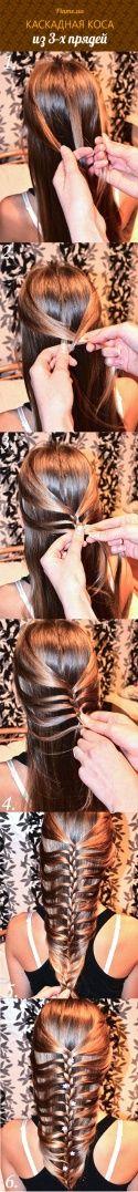 Каскадная французская коса