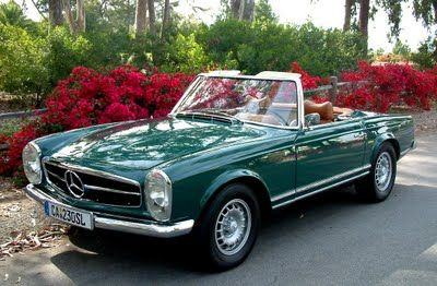 Buy my dad a classic Mercedes Benz like this one and in this color too