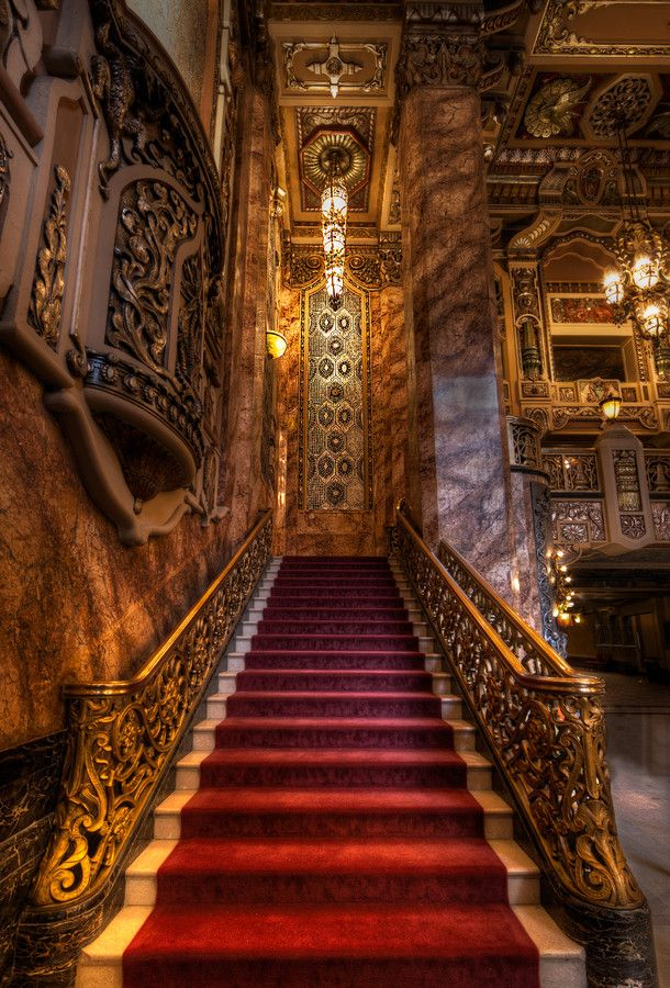 Staircase At Oriental Theater | Chicago | Photo By Krzysztof Hanusiak