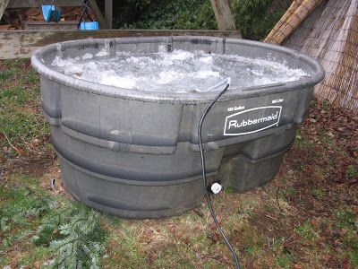 300 Gallon hot tub | From Rubbermaid stock tank