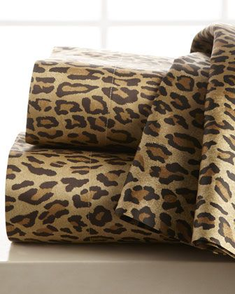 Leopard-Print Sheets - for the girly room that I will have one day!