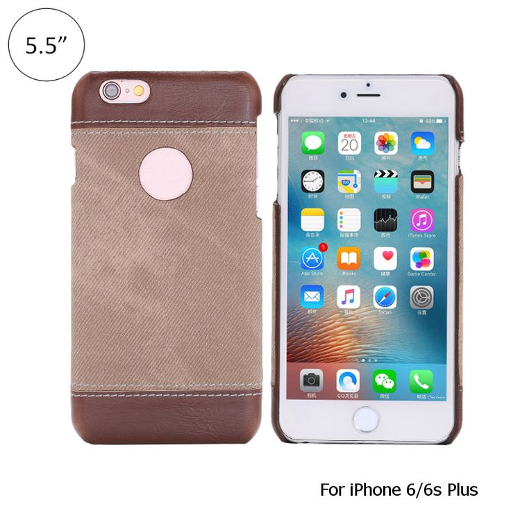 Luxury Cowboy Veins Leather Case PU Leather With Holes Denim Veins Case Cover Fo…