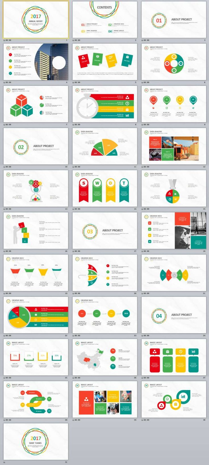 17 best business powerpoint templates images on pinterest 31 multicolor annual report powerpoint template toneelgroepblik Image collections