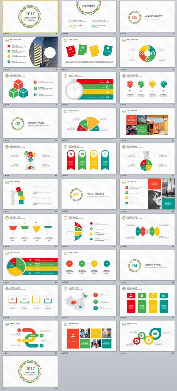 The 25 best powerpoint maker ideas on pinterest teacher 31 multicolor annual report powerpoint template alramifo Gallery