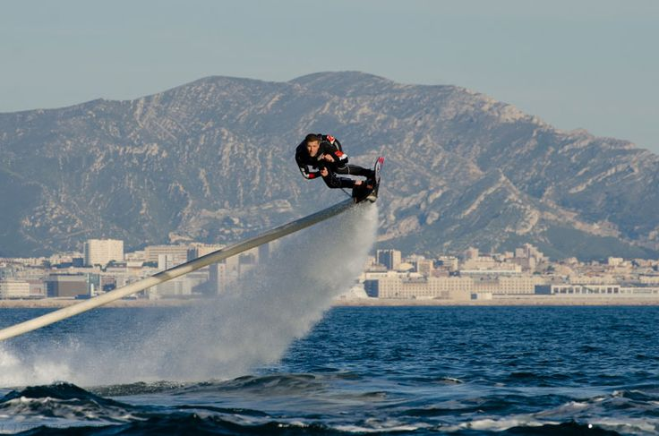 Franky Zapata, founder of Zapata Racing, recently unveiled his latest invention, the ZR Hoverboard. According to their press kit, the device can soar up to 16 ft (5 meters) above the water and approach speeds of 25 mph (40 km/h). The Hoverboard is a surf board that is attached to a PWC (Personal Watercraft) which provides the hoverboard with propulsion through the air; which is routed through the primary nozzle that is attached to the board. The thrust from the PWC is routed through an 60 ft…