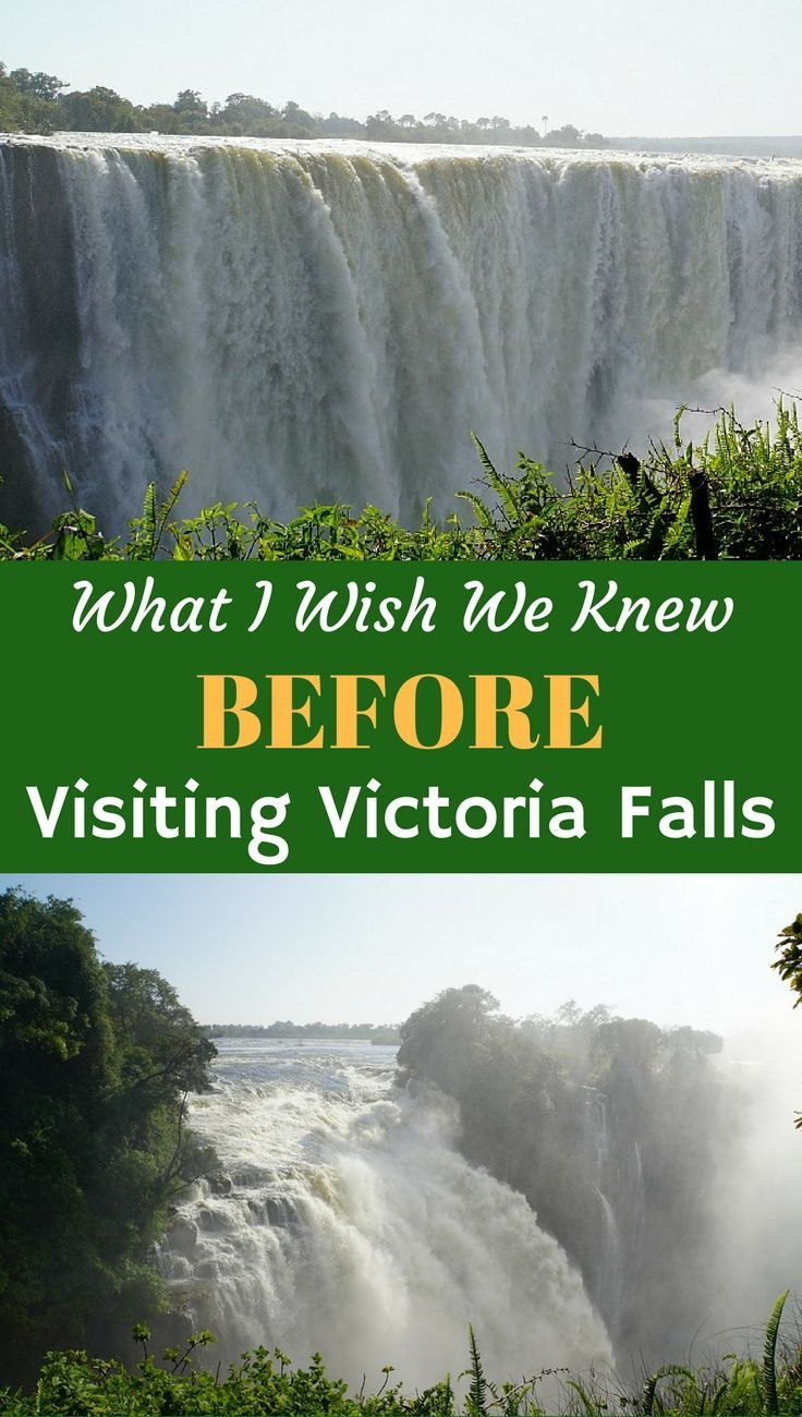 We consider ourselves pretty experienced travelers, but Victoria Falls had a few surprises, despite our research. Here's what we wish we knew, before we visited Victoria Falls, Zimbabwe. Tips about Visas, Safety, Fees and Things to do and Where to Eat when visiting Victoria Falls.