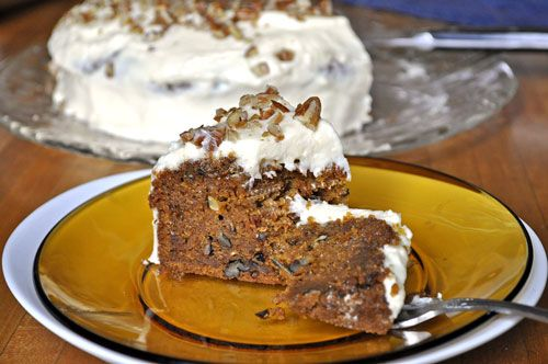 Carrot Pecan Cake with Cream Cheese Frosting | Recipe