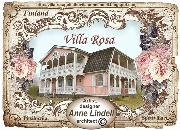 Lace villa, pitsihuvila, spetsvilla, Villa Rosa, Finland, pink house
