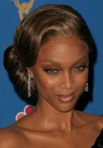 Tyra Banks Married | Tyra Banks Updo | Green Natural Wedding Ideas