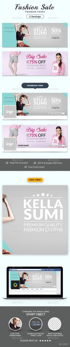 """Fashion Sale Facebook Covers - 2 Designs Templates PSD. Download here: <a href=""""http://graphicriver.net/item/fashion-sale-facebook-covers-2-designs/16431360?ref=ksioks"""" rel=""""nofollow"""" target=""""_blank"""">graphicriver.net/...</a>"""