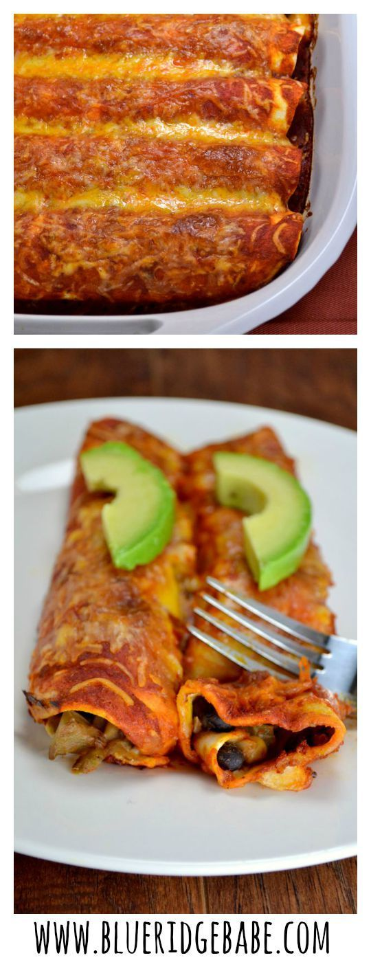 the best EVER veggie enchiladas! Plate licking, pan scraping good!