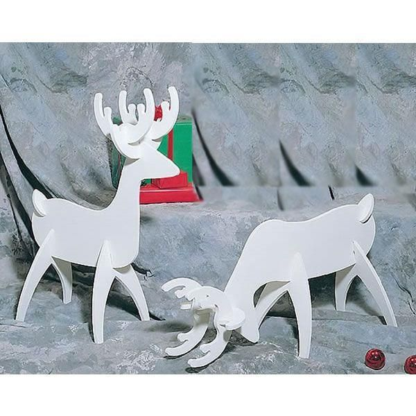 Buy Woodworking Project Paper Plan to Build White Reindeer, Plan No. 872 at Woodcraft.com