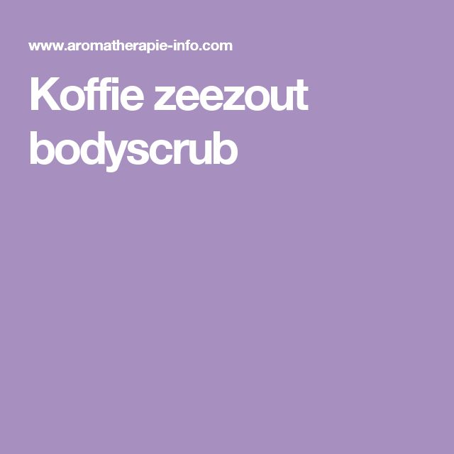 Koffie zeezout bodyscrub
