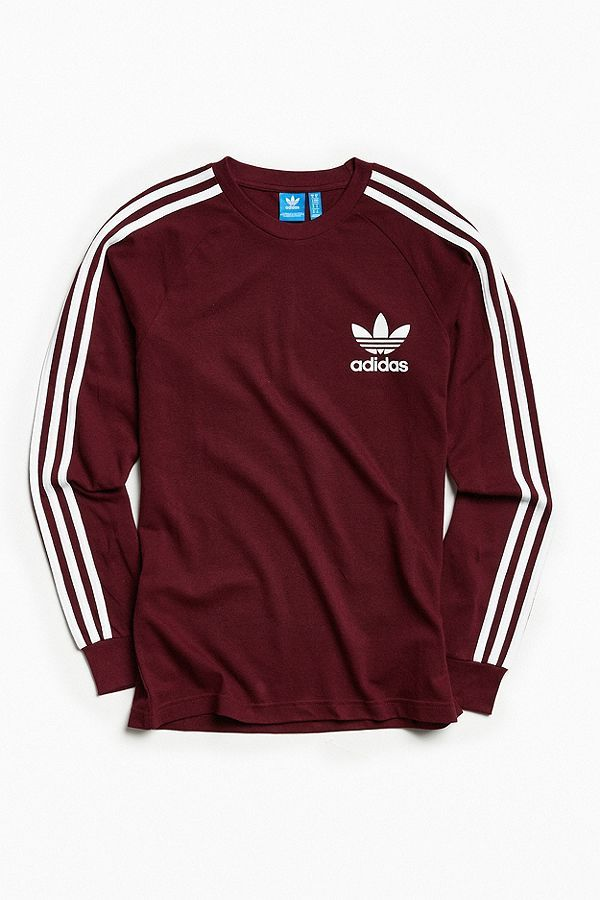 723a133eb2f7c6 Slide View  2  adidas Pique 3-Stripes Long Sleeve Tee