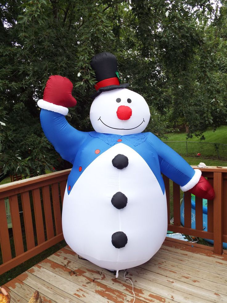 Best frosty the snowman inflatable images on pinterest