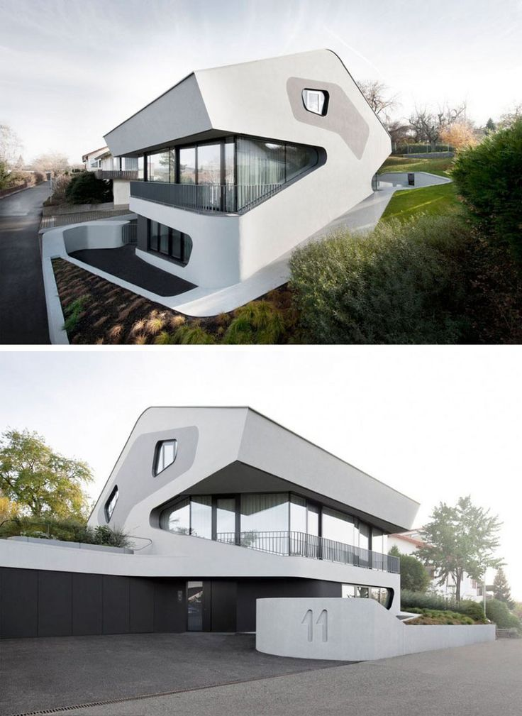 Sculptural stairs are central to the design of this german house