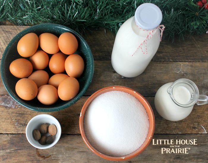 Old-Fashioned Eggnog Ingredients