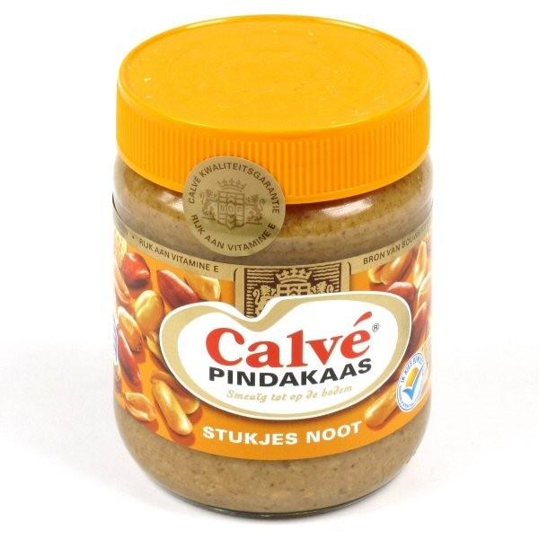 Calvé pindakaas = Heerlijk!  It's peanut butter.