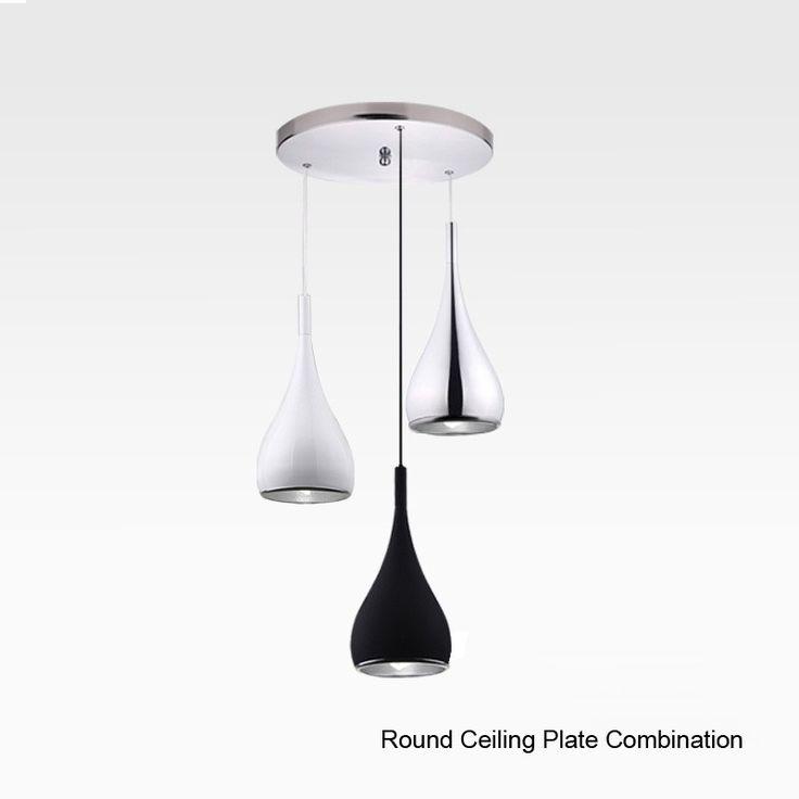 2016 nouveau 3 Pcs/Lot Américain Style Pendentif Lampe En Aluminium Dia16cm * H120cm Pour UN Pendentif Lumière Cuisine Lampe Avec le Plaque de plafond dans Lampes Suspendues de Lumières et Éclairage sur AliExpress.com | Alibaba Group