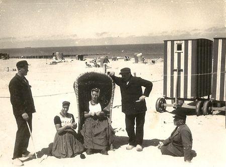 domburg strand oud -