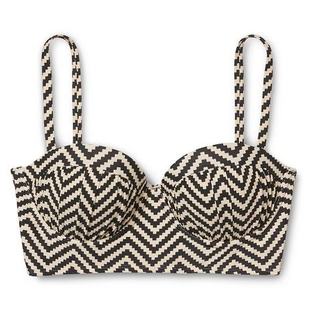 Zig-Zag bikini top // cute and modest... pairing with high waisted bottoms. :)