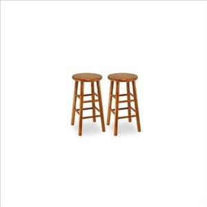 """Winsome 24"""" Counter Height Bar Stools (Set of 2)"""