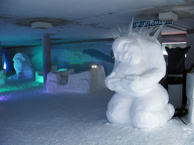 Sculpt some more snow in parking spaces!