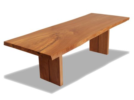 Rotsen Furniture Natural Edge English Elm Wood Slab Dining Table