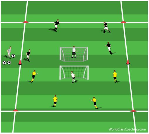 Reverse Goals Game To Develop Aerobic Power Soccer