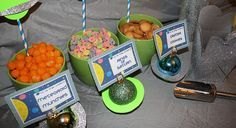 Space Buffet - http://www.pbs.org/parents/birthday-parties/outer-space-birthday-party/food/space-buffet/