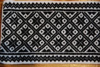 Winter Hardanger embroidery