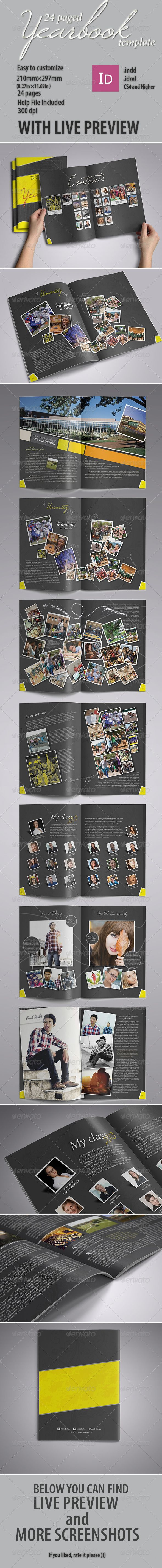 Modern Yearbook Template - #Photo #Albums Print #Templates Download here:  https://graphicriver.net/item/modern-yearbook-template/4855371?ref=alena994
