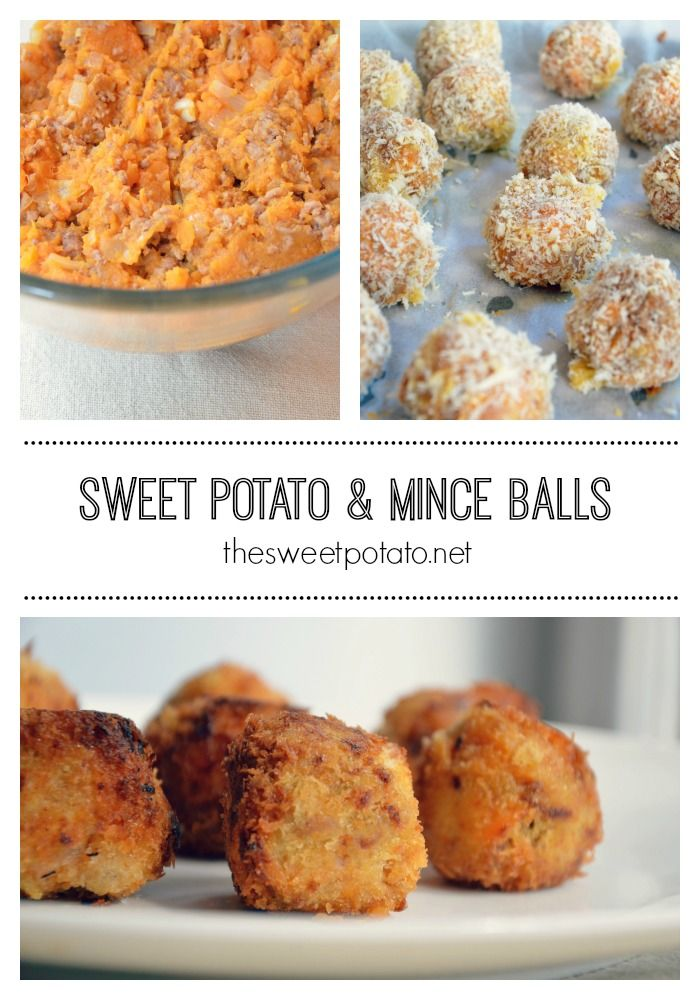 These moorish little sweet potato and mince balls are sure to be a hit with your toddler.