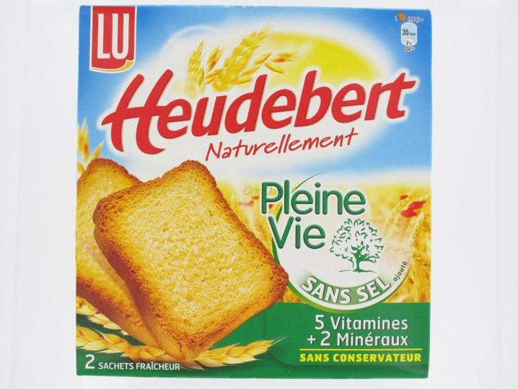 Biscotte pleine vie sans sel Heudebert Lu 2 sachets 300 grs-