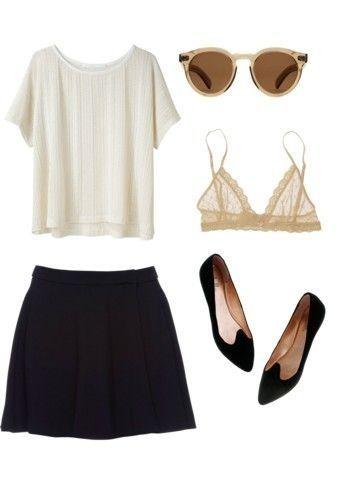 biała bluzka+spódnica