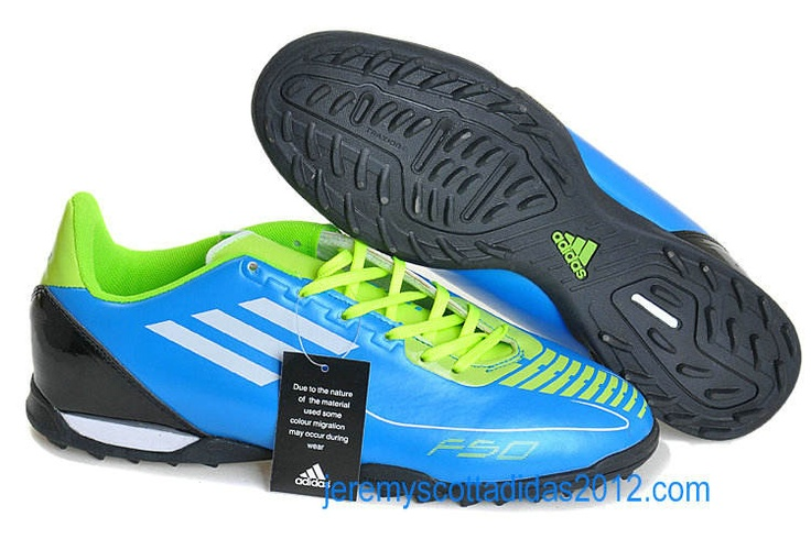 Adidas F50 Adizero Turf Messi Soccer Shoes Blue White Green