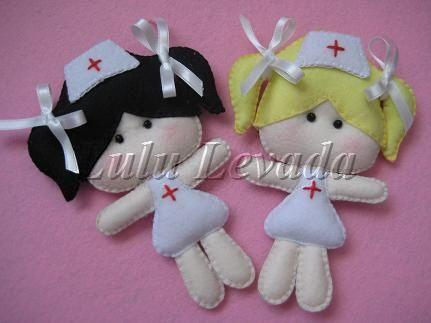 enfermeiras em feltro