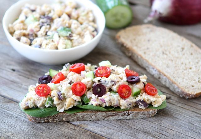 Smashed Chickpea Greek Salad Sandwich from www.twopeasandtheirpod.com ...