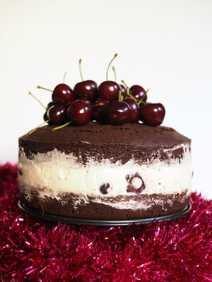 Cherry Cheesecake within a Chocolate Mud cake