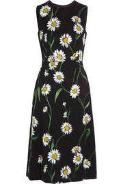 Dolce & GabbanaDaisy-print brocade midi dress