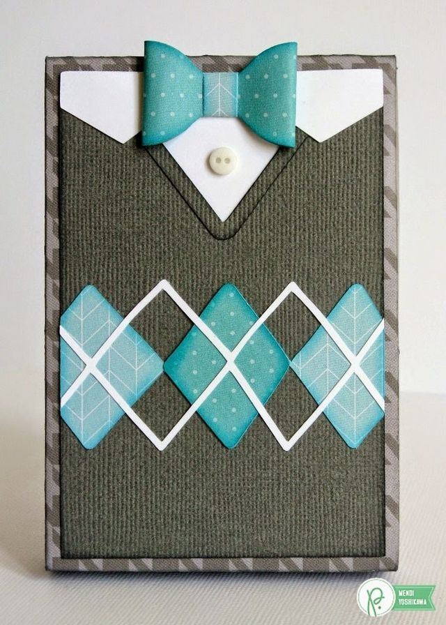 Pebbles Inc. Home+Made Sweater Weather Card Set (via Bloglovin.com ) mannenkaart